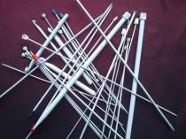 grey hooks & needles
